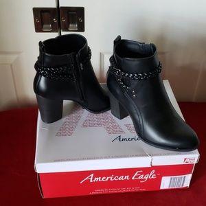New Ula black ankle dress boots